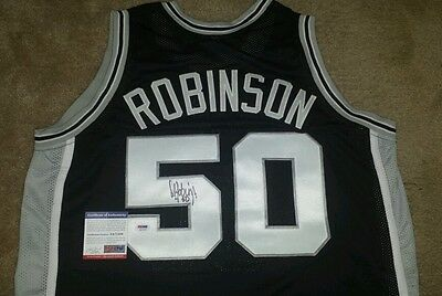 David Robinson Autographed Spurs Jersey! Authenticated by PSA / DNA!