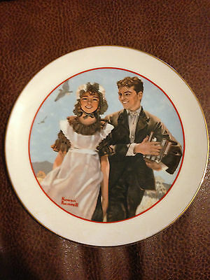 """""""YOUNG LOVE"""" SERIES COLLECTOR PLATE BY NORMAN ROCKWELL"""