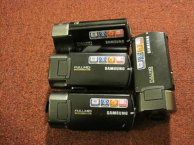 lot of  4 samsung hmx-Q10    Q10BN camcorders  as is parts repair   v1