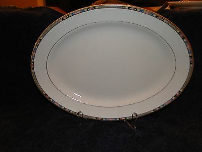 "NATIONAL CHINA CO LA ROSA #2589 PATTERN 15"" OVAL SERVING PLATTER VINTAGE - RARE"