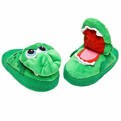 Slippers Childrens Novelty Funny Toy Stompeez Growling Dragon Size Small