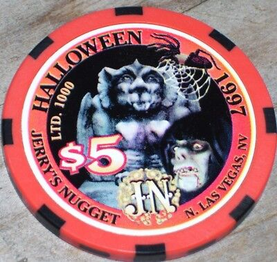 $5  Ltd Halloween 1997 Gaming Chip From  Jerry's Nugget Las Vegas Nv