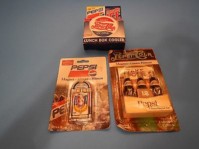 New in Package Pepsi magnets and lunch box cooler