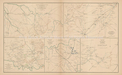 Middle Tennessee Campaign Civil War Antique Map 1895 circa Original