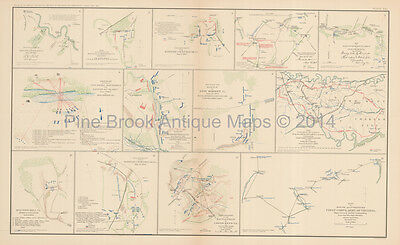 Peninsular Campaign N. Virginia Civil War Antique Map 1895 Original
