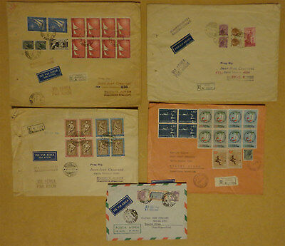 Italia Italy to Argentina Registered Cover 5 Covers Lot Repubblica 1960 - 1966
