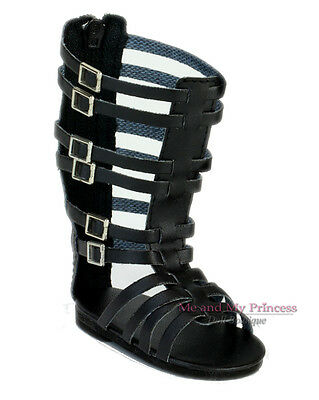 """BLACK GLADIATOR STRAPPY SHOES SANDALS - clothes fits 18"""" American Girl Doll Only"""