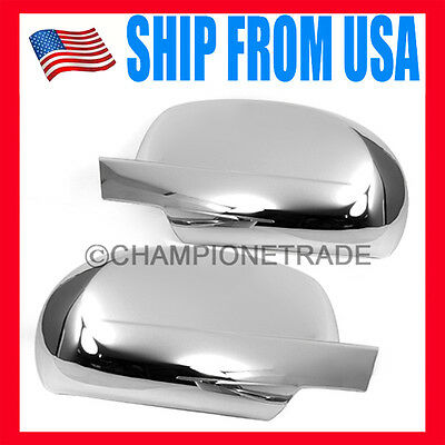 US Chrome Side Mirror Cover Trims for Chevy Avalanche Tahoe Cadillac Escalade CT