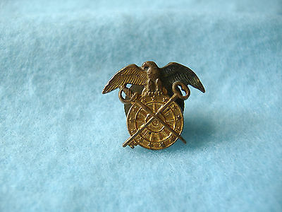 VINTAGE WWII UNITED STATES ARMY OFFICER QUARTERMASTER CORPS HAT/CAP BADGES