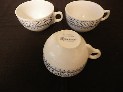 "Franciscan Bone China ""ST. LOUIS"" Set of 3 Flat Cups Made in England HTF - *EUC"