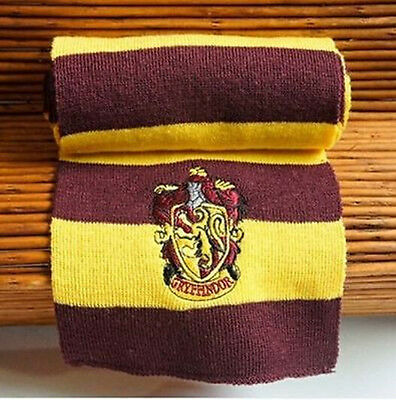 Hot Harry Potter Gryffindor Wool Knit Scarf Wrap Soft Warm Cos Costume
