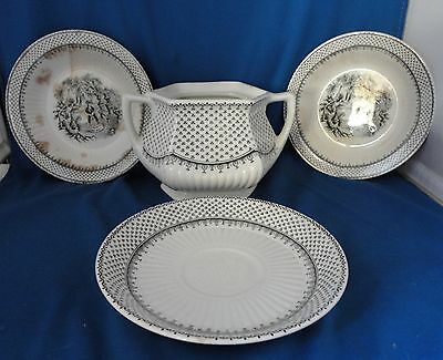4 Pieces of Adams Minuet Ironstone China England Sugar 2 Berry Bowls 1 Saucer