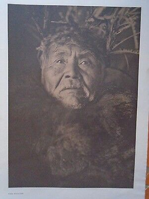 """The Whaler by Edward S. Curtis - Original 14 X 18"""" Photogravure"""