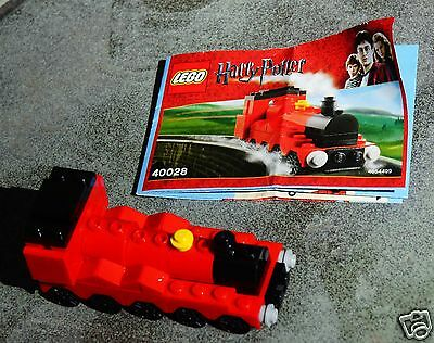 LEGO Harry Potter Mini Hogwarts Express 40028 Complete w/ Instructions As Shown