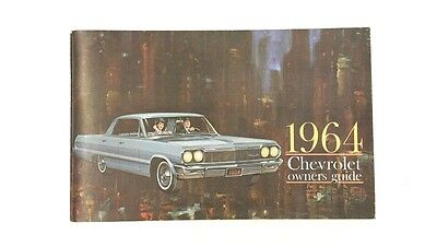 Vintage 1964 Chevrolet Owners Guide Manual