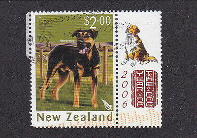 New Zealand, # 2058, Dog Topic w/ selvage 'Year of the Dog', $2.00 postage.