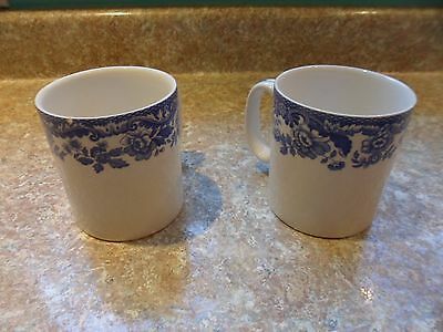 "Spode ""Delamere Blue"" set of 2 mugs, Excellent!"