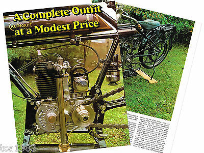 vintage CALTHORPE (UK) MOTORCYCLE Article / Photos / Pictures