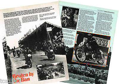 Vintage SWISS MOTORCYCLE Grand Prix Article / Photo's / Pictures