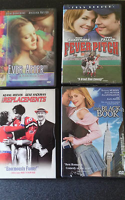 Lot of 4! The Replacements, Fever Pitch, The Little Black Book, Ever After