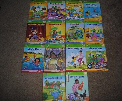LOT OF 14 LEAP FROG TAG READING SYSTEM BOOKS LEARN TO READ PHONICS