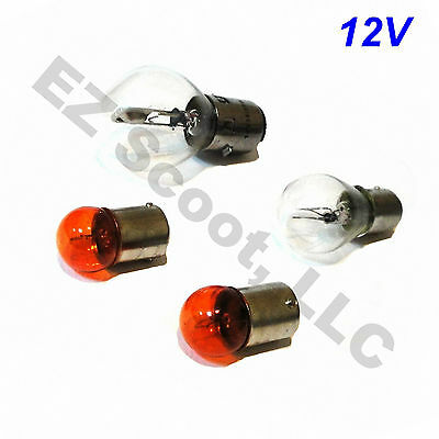 Light Bulb Set Headlight Brake Light 2 Blinker Gy6 Scooter Baotian Peace Roketa