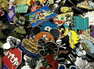 Set of 10 Official Disney Pin Trading Pins w/Rubber Backings! HM Lanyard Cast!