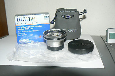 Digital Optics , Digital AF 2X Telephoto Lens For 37mm Threaded Mount,Canon Etc.
