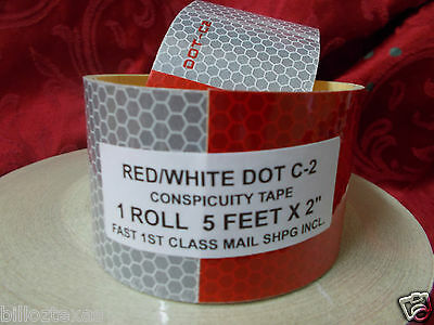 DOT-C2 Reflective Conspicuity Tape Safety 5 FOOT ROLL  * FREE  FAST SHIPPING!!!