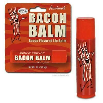 Bacon Lip Balm Cosmetics Chap Stick Novelty Man Gift Kitsch Joke Gag Meat