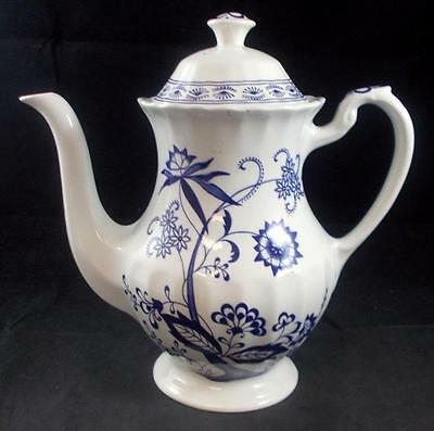 JG Meakin BLUE NORDIC Coffee Pot Light Crazing on Lid Only