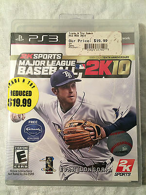 Major League Baseball 2K10 (Playstation 3, 2009) NEW IN BOX **SEALED**