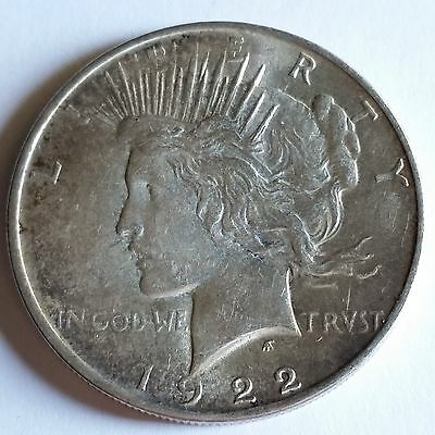 1922 D PEACE DOLLAR - MS - * SHIPS FREE FROM TX*