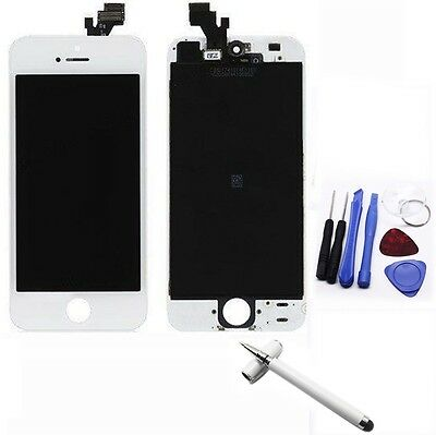 Apple Iphone 5 White Replacement LCD Touch Screen Digitizer Glass Assembly +Pen2