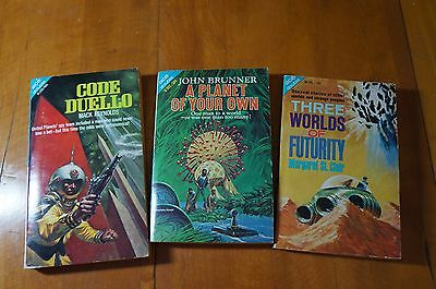 Lot of 3 Ace Double vintage sci-fi paperbacks from the 1960s