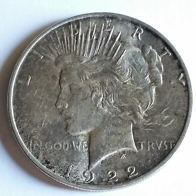1922 D PEACE DOLLAR - AU - * SHIPS FREE FROM TX*