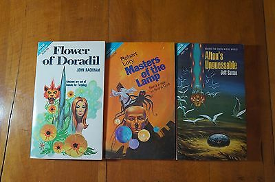 Lot of 3 Ace Double vintage sci-fi paperbacks from 1970
