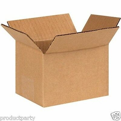 Lot of 50 Small Boxes 6x4x4 Generic Quality Brown Cardboard Ship Gold Silver
