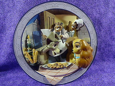 Disney Lady and The Tramp Bella Notte 3D  Plate Limited Ed
