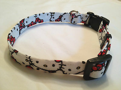 Hello Kitty Cat Pink Girl Dog Collar XS S M L red extra small large medium puppy