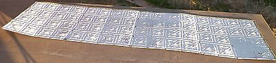 """OLD TIN / METAL ANTIQUE ARCHITECTURAL CEILING TILE LOT OF 3 96"""" X 24""""1920-1935"""