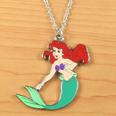 New!!! The Little Mermaid Princess Ariel Metal Necklace Girl Birthday Party Gift