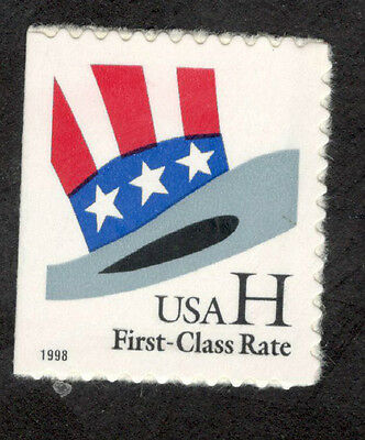 """3268 Uncle Sam's Hat  """"H"""" US Booklet Single Mint/nh (Free shipping offer)"""