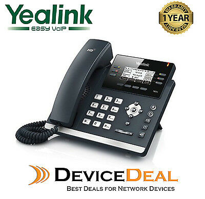 Yealink SIP-T42G   12 Line IP Phone Dual Gigabit, Color Display + Tax Invoice