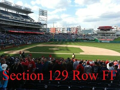 2 TICKETS BEHIND WASHINGTON NATIONALS DUGOUT vs PHILADELPHIA PHILLIES 5/23