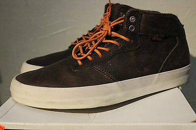 Men's VANS OTW Piercy size 6.5 Saddle Brown Leather Off the Wall USED with box