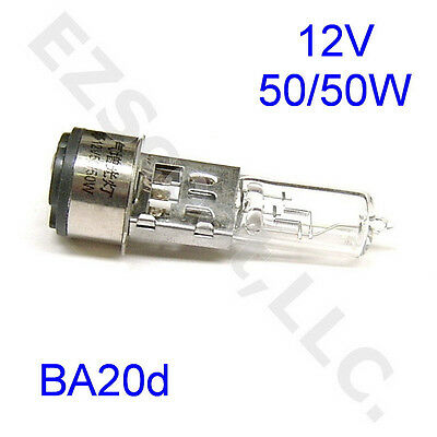 HEADLIGHT BULB 12V 50/50 WATT BA20d SUPER BRIGHT XENON SCOOTER MOTORCYCLE GY6