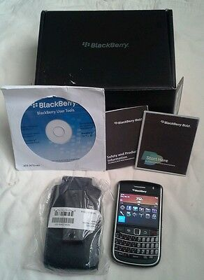 BlackBerry Bold 9650 - Black (CBeyond) Smartphone And Leather  Belt Clip Case