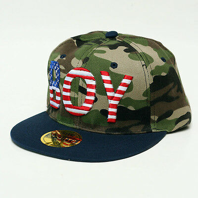 Snapback BOY USA Flag Captain America style Camouflage with Navy Brim n426