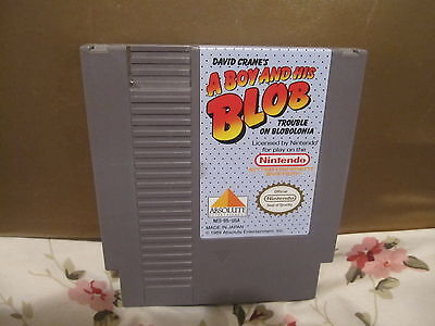 A Boy and His Blob: Trouble on Blobolonia  (Nintendo, 1989)CARTRIDGE ONLY